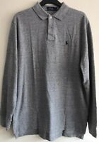BNWT POLO RALPH LAUREN MENS LONG SLEEVE CLASSIC FIT MESH POLO SHIRT/TOP LARGE