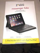 ZAGG Folio Case Bluetooth Keyboard for Apple iPad Pro Air 2 9.7-inch - Black