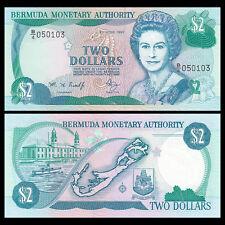 Bermuda 2 Dollars, 1997, P-40Ab, UNC