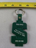 Vintage Tax Bite Gotcha! Bank Financial Style keychain fob ring key chain *QQ4