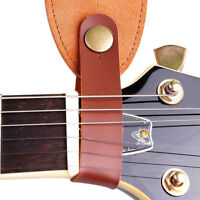 Cowskin Leather Guitar Strap Hook Button For Acoustic Folk Classic Durable TDCA