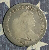 1807 DRAPED BUST SILVER HALF DOLLAR LARGE EAGLE COLLECTOR COIN FREE SHIPPING