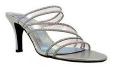 Mootsies Tootsies Allattly sandals silver sz10 3.7heel