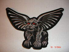 Gothic Gargoyle Embroidered Patch - Small 4 x 3 Inches