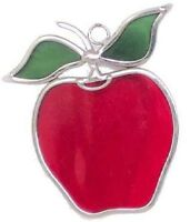 Small Apples Stained Glass Suncatcher (set of 2)