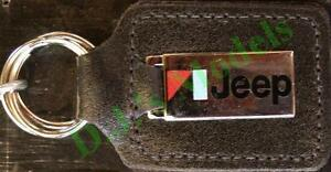 Jeep Keyring Key Ring - badge mounted on a leather fob