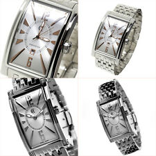 CERRUTI MENS LADIES HIS AND HERS GENOVA SWISS STAINLESS STEEL WATCHES NEW SILVER