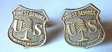 US FOREST SERVICE USDA Dept of Agriculture Forestry Badge CUFF LINKS Cufflinks