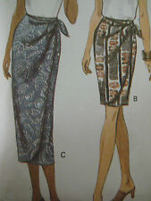 Vintage Butterick 3326 WRAP SKIRT w/ TIE ENDS Sewing Pattern Women THREE LENGTHS