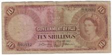 FIJI 10 SHILLINGS 1 JUNE 1957 LOOK SCAN