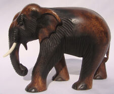 Hand Carved Thai Wooden Elephant 20cm Size Fair Trade