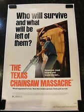 THE TEXAS CHAINSAW MASSACRE Original 1974 Movie Poster, C8.5 Very Fine/Near Mint