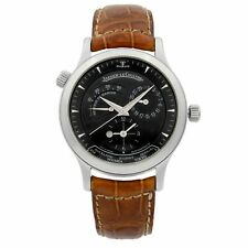 Jaeger-LeCoultre Master Geographic Steel Black Dial Automatic Men Watch Q1428470