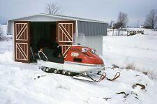 Vintage Herter's Husky Snowmobile Poodle Dog 1972 Color Photo Transparency Slide