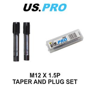 US PRO Tools M12 X 1.5P Taper & Plug Set ( Tap & Die ) 2659