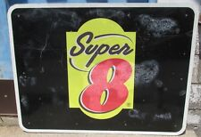 Huge 48 x 36 SUPER 8 MOTEL Aluminum Street/Road/Highway/Freeway Sign Used S479