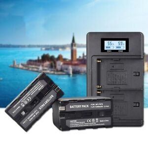 Smart Dual USB Battery Charger For Sony Digital Camera Battery NP-F970 CCD-SC5.