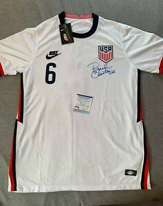 "TEAM USA SOCCER BRANDI CHASTAIN SIGNED NIKE #6 JERSEY PSA/DNA AI16799 ""THE GOAL"""
