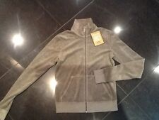 """NWT Juicy Couture New & Gen. Ladies Small Brown Towelling Jacket With """"J"""" Pull"""