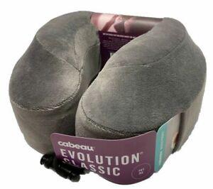 Cabeau Evolution Classic Neck Pillow Travel Memory Foam Gray w Device pocket NEW