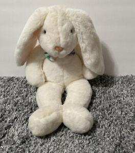 "Commonwealth Vintage Bunny Rabbit Plush Bowtie 18"" Stuffed Animal White"