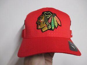 "CHICAGO BLACKHAWKS ""ADIDAS"" (DRAFT) FLEX FIT HAT (L/XL) NWT $30 STRUCTURED NICE"