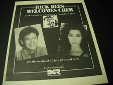 Cher on Rick Dees Weekly Top 40 show Original 1989 Promo Display Ad mint cond