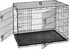 Large Metal XXL Dog Kennel Outdoor Extra Cage Pet Big Dog Double-Door Folding