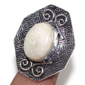 Aquamarine Ethnic Handmade Gemstone Ring Jewelry US Size-7.5 JW
