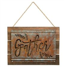 Rustic Acid Wash GATHER Sign Farmhouse Decor-Kitchen Family room sign