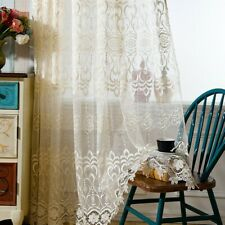 Embroidery Net Curtains Guipure Lace Pelmets Window Screen Drape Sheer Luxurious