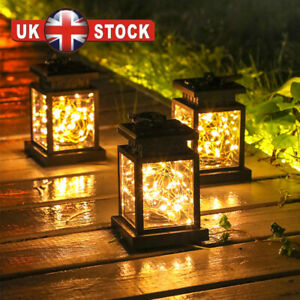 Waterproof LED Solar Powered Hanging Lantern Lights Outdoor Garden Table Lamp W
