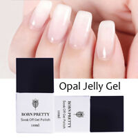 10ml UV Gel Nail Polish Opal Jelly White Soak Off Varnish Decor DIY Born Pretty