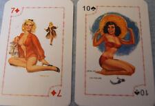 pin-up playing cards Russisch russian deck girls Kartenspiel Thomson 10