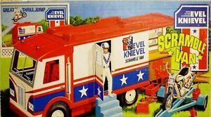 Miniature 1:12 scale Evel Knievel SCRAMBLE STUNT VAN Dollhouse EMPTY TOY BOX