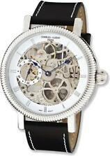 Mens Charles Hubert Stainless Steel Skeleton Handwind Watch