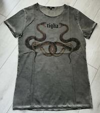 Tigha Herren  T-Shirt Snakes MSN Vintage Grey Größe M