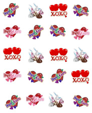 Hugs and  Kisses (Valentine) Waterslide Nail Decals/ Nail Art