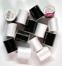 15 Spools Sewing Thread Polyester BLACK & WHITE 200 yards each Spool - NEW