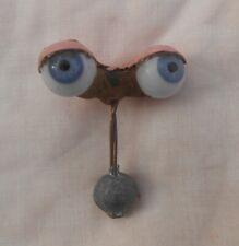 Ancienne paire d'yeux bleus système dormeurs poupée XXème