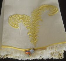 "Pair MARGHAB Linen TOWELS ""Yellow Plume"" NWT UU838"