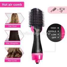 Multifunctional Hot Air Hair Dryer Comb Straightener Curling Brush Styling Tool