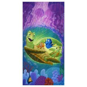 """Disney Fine Art Tim Rogerson """"Cheer Up, Dude"""" Signed Limited Edition Canvas"""