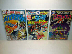 STARMAN: 1st ISSUE SPECIAL + ALL STAR COMICS #60 + STALKER #1 - FREE SHIPPING