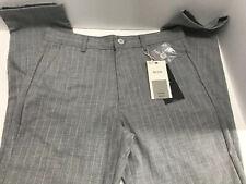 "Bershka Men's Grey Pants Pinstripes Length 38"" Waist 30"" Inseam 28"" NWT"