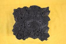 Indian Wooden hand carved textile printing fabric block stamp fine floral design