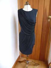 MAJE DRAPED NEOPRENE LIKE SEXY BLACK SLEEVELESS ROUCHE DRESS 2 M BNWT