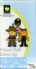 "Cricut Cartridge ""PAPER DOLL DRESS UP"" - Excellent Used Condition"