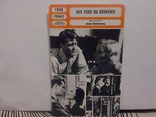 CARTE FICHE MONSIEUR CINEMA 1948 - AUX YEUX DU SOUVENIR - Morgan Marais Chevrier