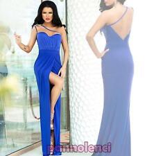 Vestito lungo donna abito sirena scollato aderente elegante nuovo sexy DL-1786